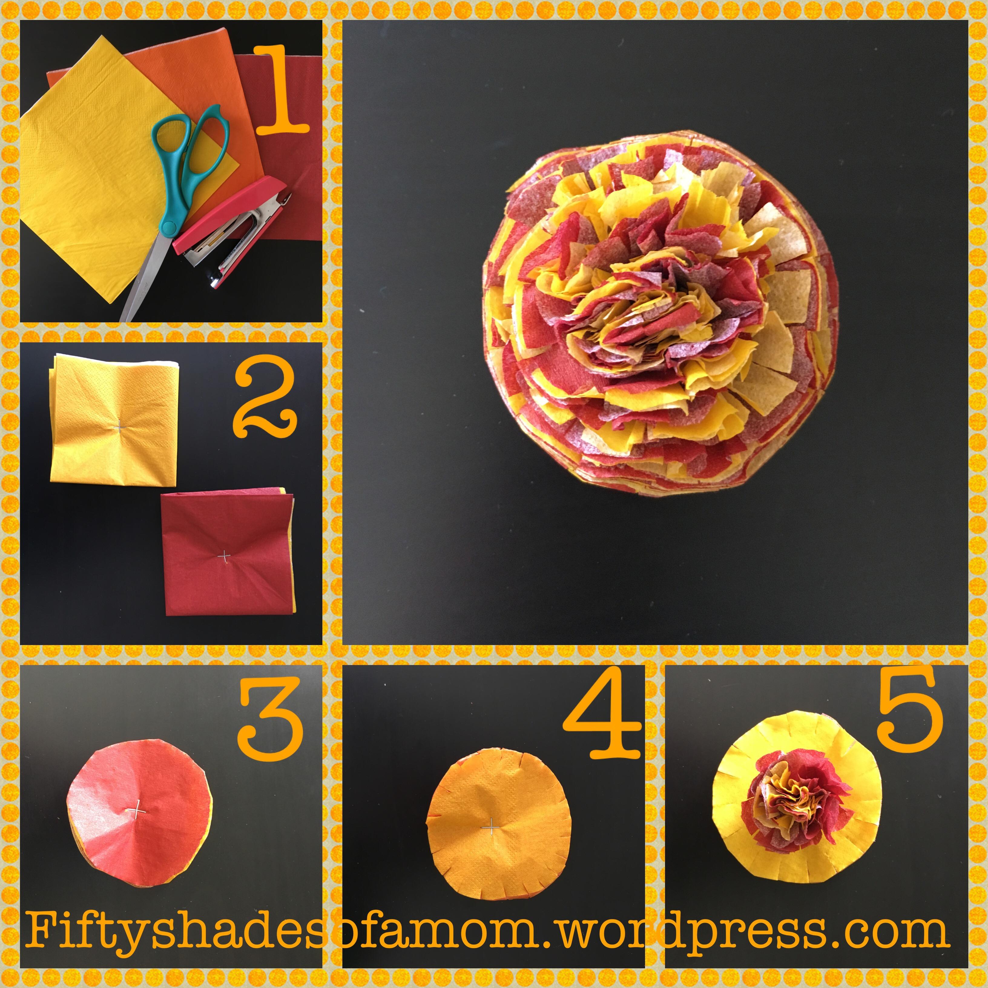 Diy Diwali Craft Paper Marigolds 50 Shades Of A Mom